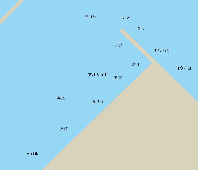調川港ポイント図