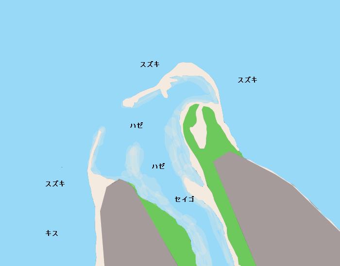 飯梨川河口ポイント図
