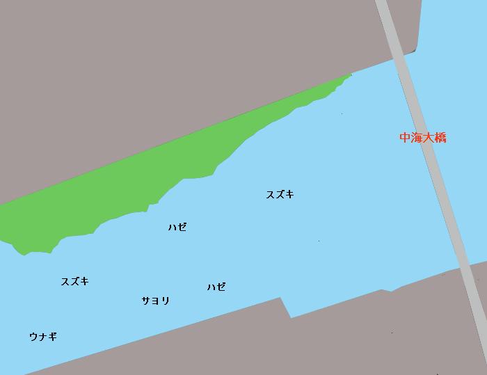 中海大橋周辺ポイント図