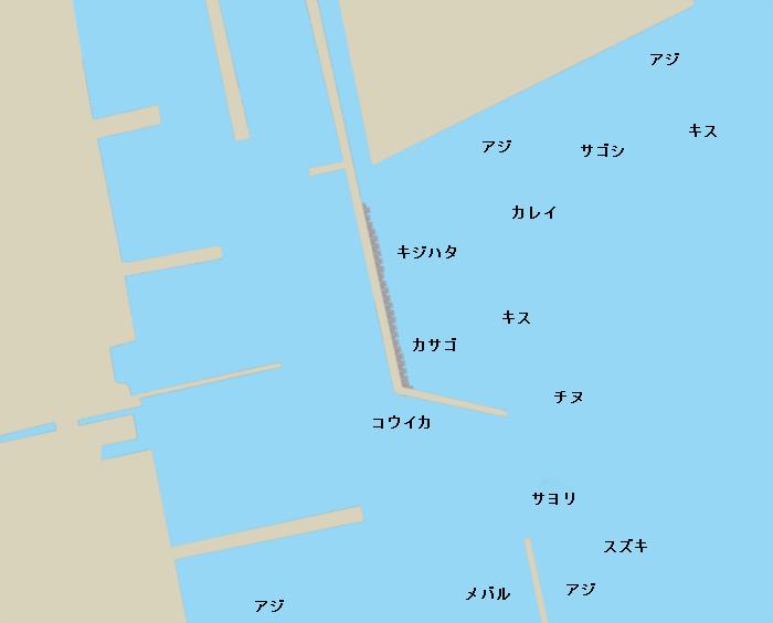 中野港ポイント図