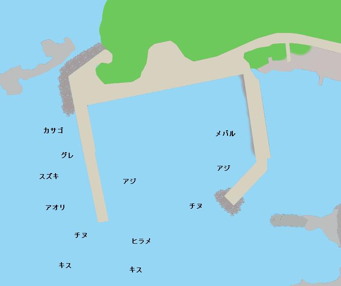 惣津港ポイント図