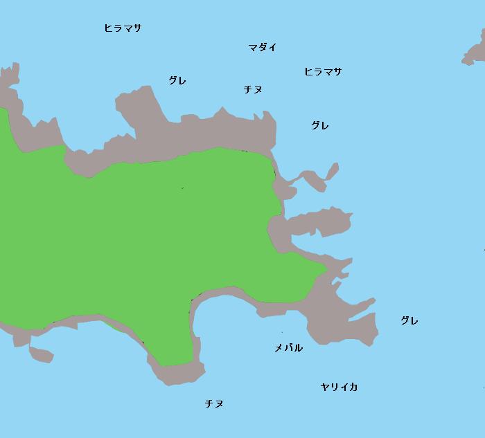 津ノ和鼻ポイント図