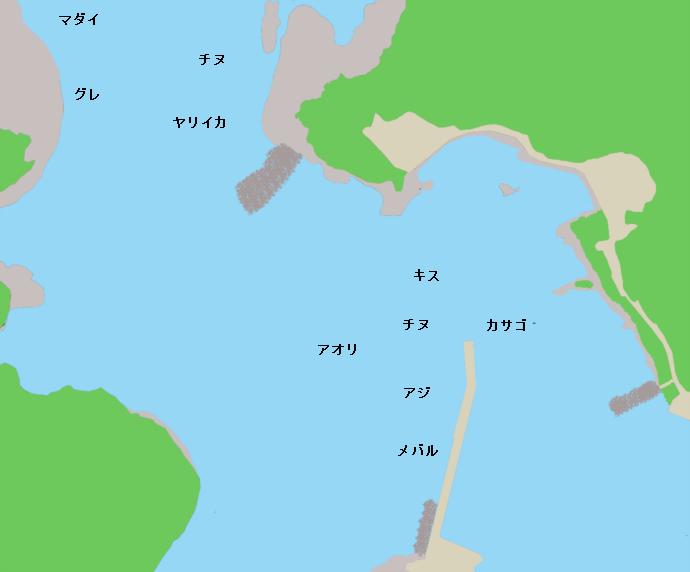 雲津港ポイント図