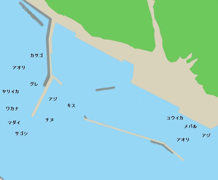 十六島漁港ポイント図