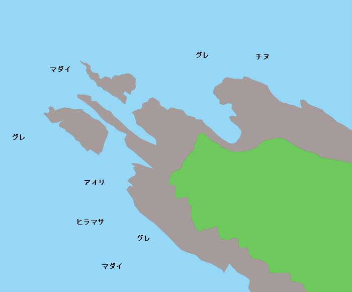 十六島鼻ポイント図
