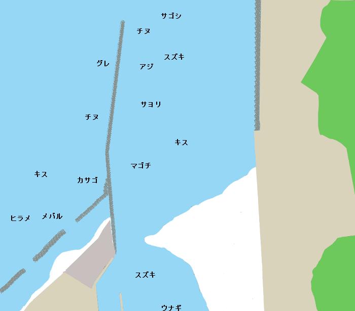 江の川河口ポイント図