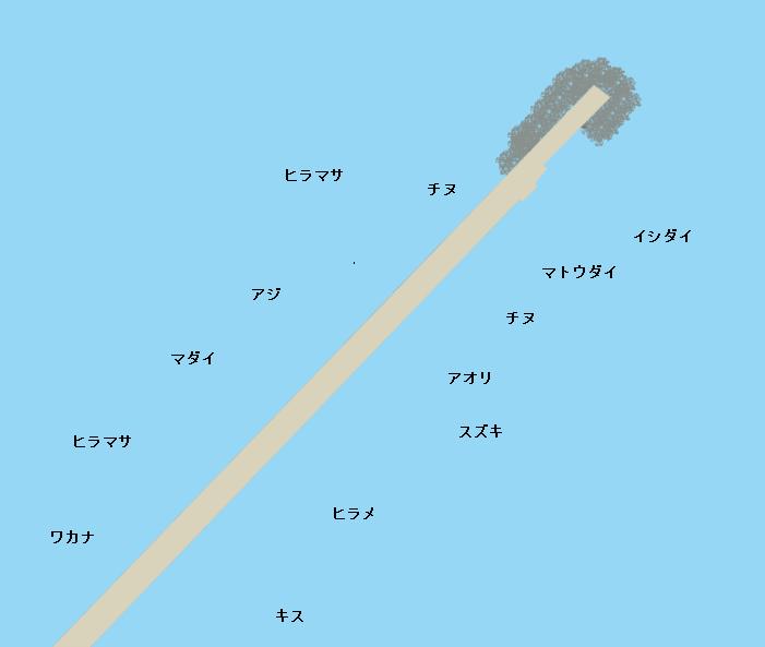 三隅火電波止ポイント図