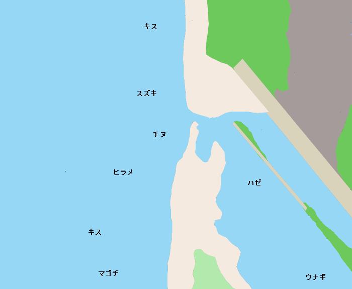 神戸川河口ポイント図