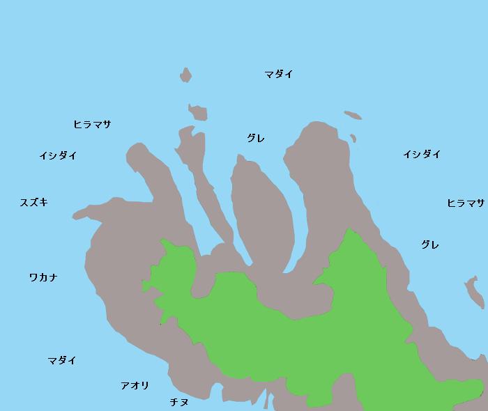 桁掛半島ポイント図