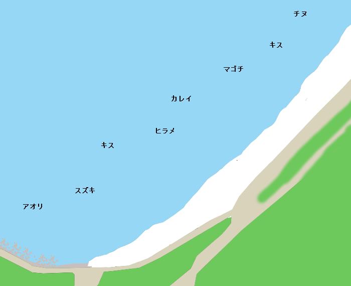 琴ヶ浜ポイント図