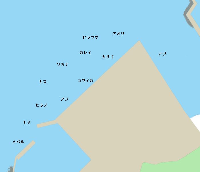 三隅港公共埠頭付近のポイント