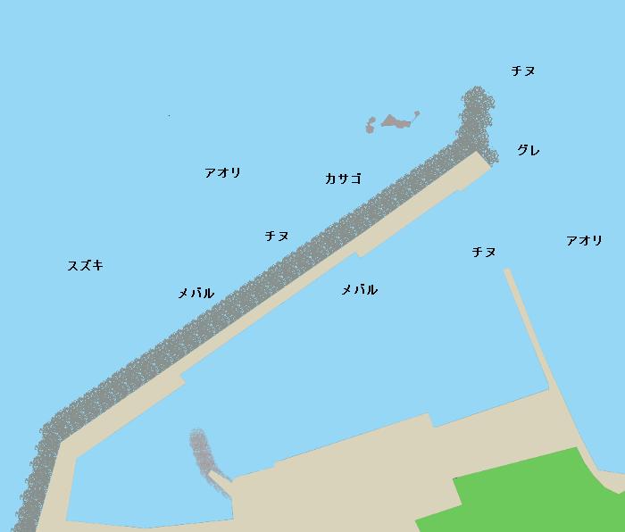 小田漁港ポイント図