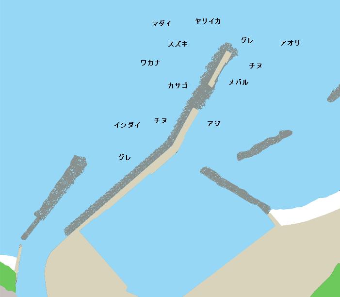 田儀港ポイント図
