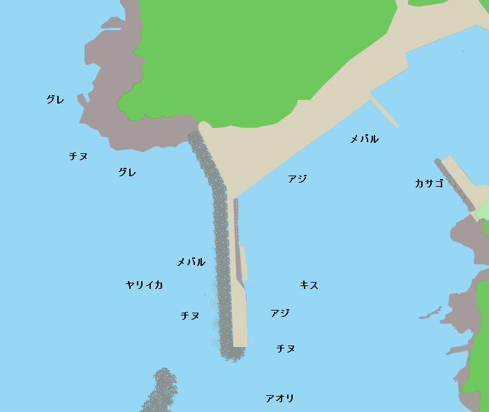 多古漁港ポイント図