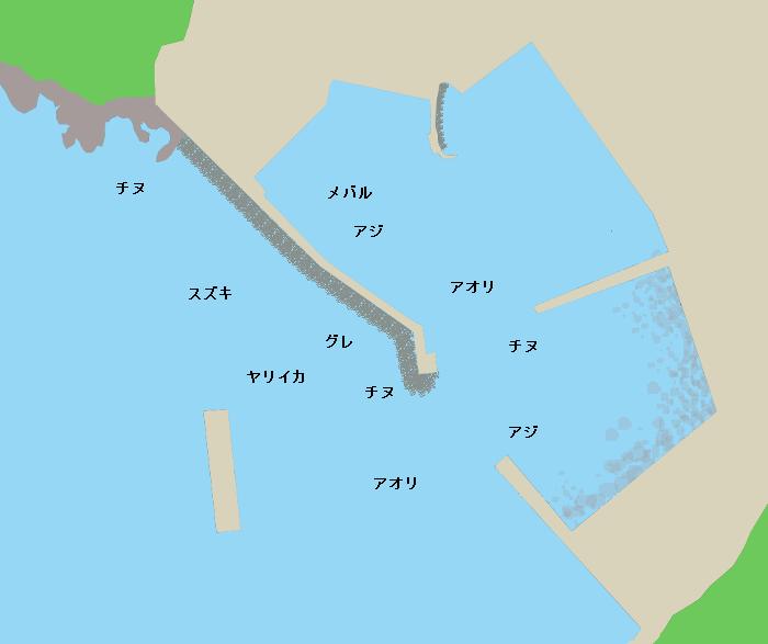 津摩漁港ポイント図