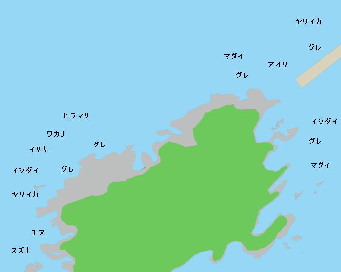 馬島ポイント図
