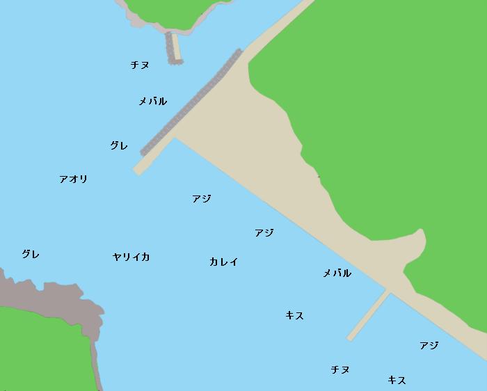 温泉津港ポイント図