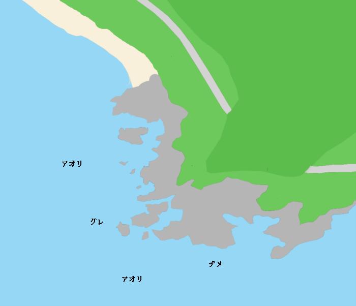 赤石周辺ポイント図
