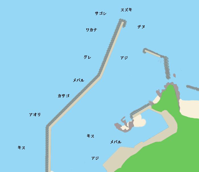 江津漁港ポイント図