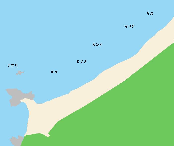 黒松海岸ポイント図