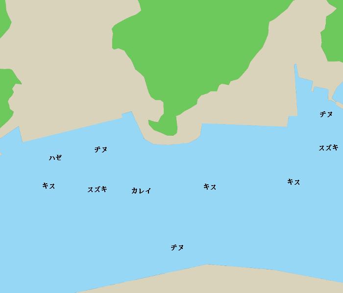 境水道ポイント図(宇井付近)