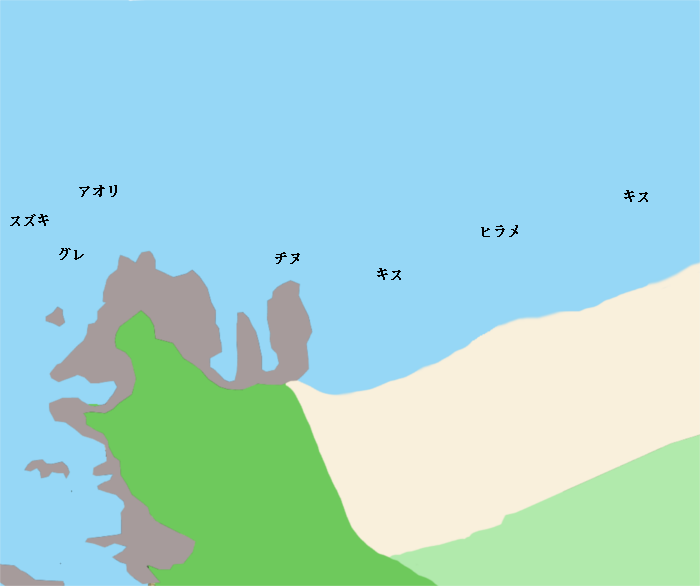 佐名目海岸ポイント図