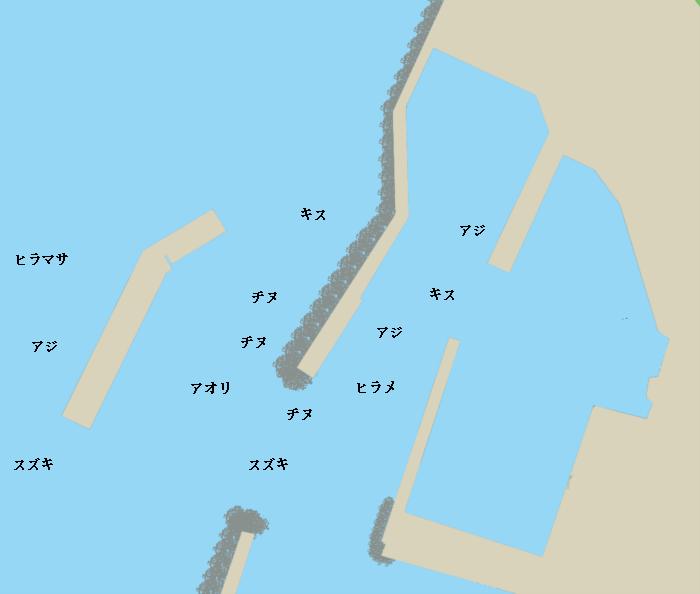 和江漁港ポイント図
