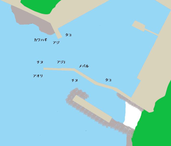 浅子漁港ポイント図