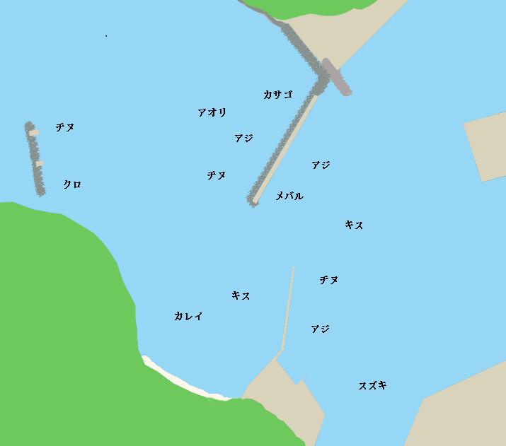 萩港ポイント図