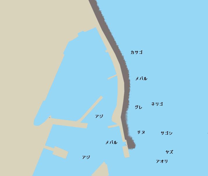 壱部浦漁港ポイント図
