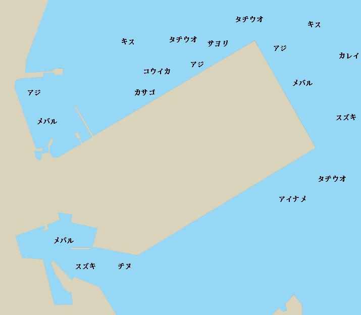 岩国港新岸壁周辺