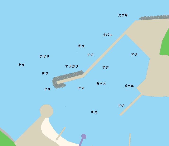 小友漁港ポイント図