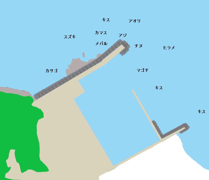 根獅子漁港ポイント図