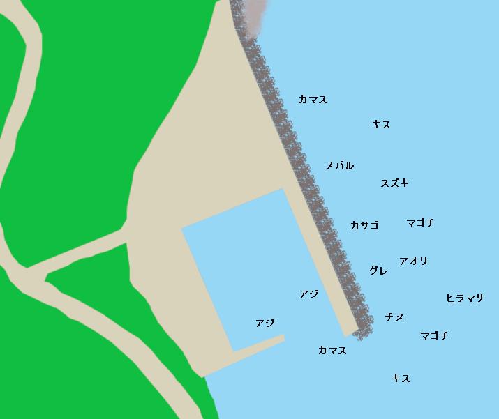 御崎浦漁港ポイント図