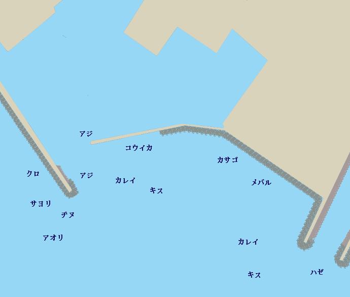 安岡漁港ポイント図
