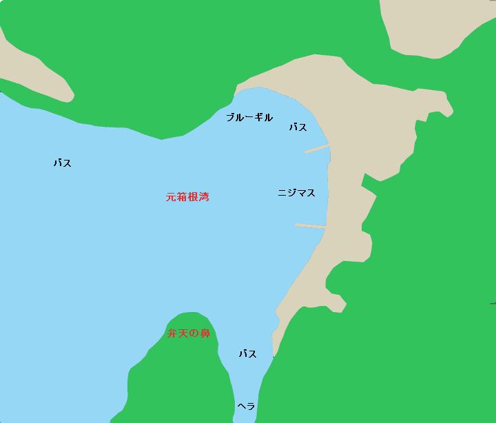 芦ノ湖元箱根湾周辺のポイント