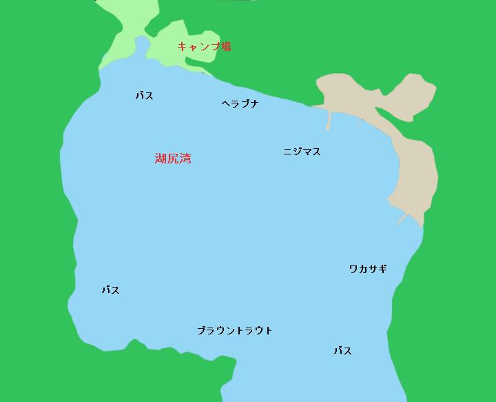 芦ノ湖湖尻湾周辺のポイント
