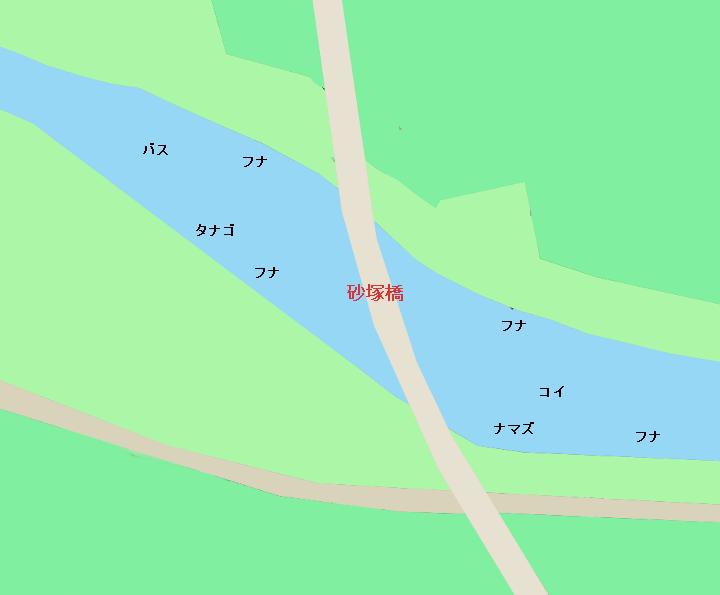 びん沼のポイント ビン沼川砂塚橋周辺