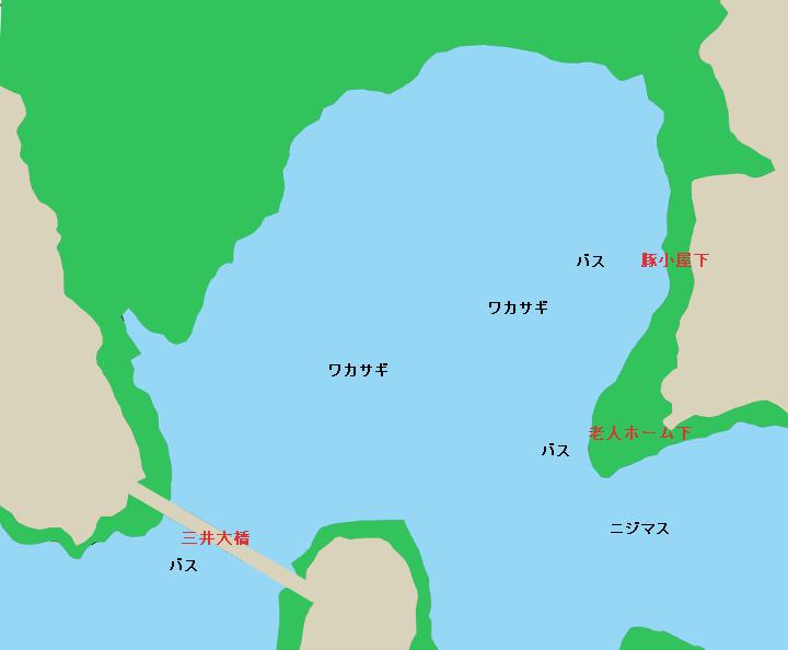 津久井湖のポイント(ブタ小屋下・三井大橋・老人ホーム下など)