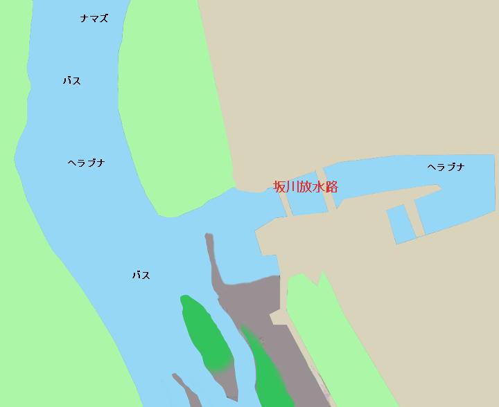 江戸川坂川放水路流れ込み付近のポイント(埼玉県三郷市、千葉県松戸市)