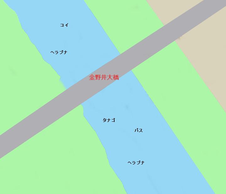 江戸川金野井大橋周辺のポイント(千葉県野田市、埼玉県春日部市)