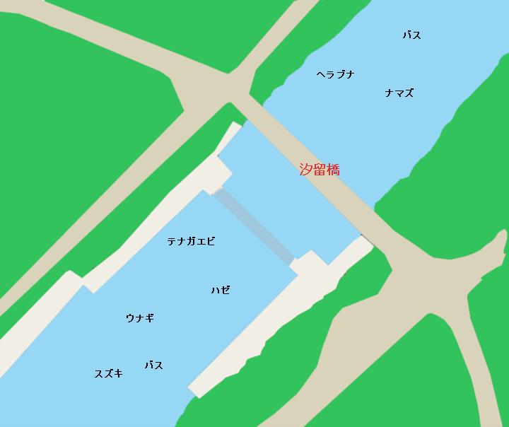 花見川汐留橋付近のポイント