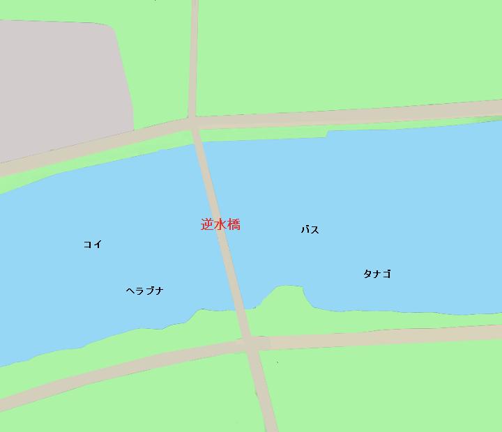 新川逆水橋付近のポイント