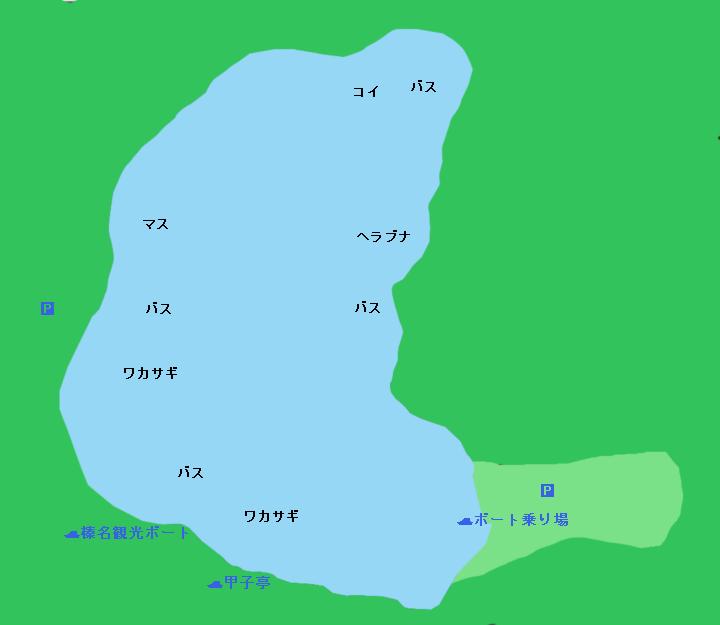 榛名湖ポイント図