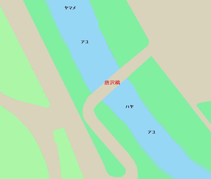旗川唐沢橋周辺のポイント
