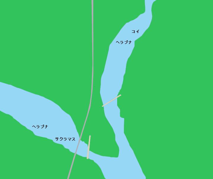 五十里湖ポイント図