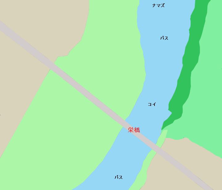 鬼怒川栄橋周辺のポイント(茨城県結城市・筑西市)