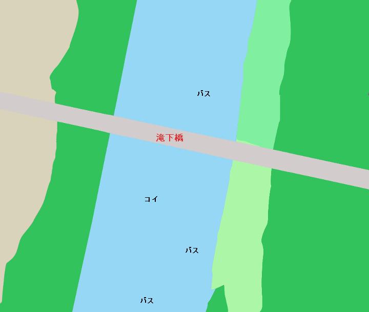 鬼怒川滝下橋周辺のポイント( 茨城県守谷市)