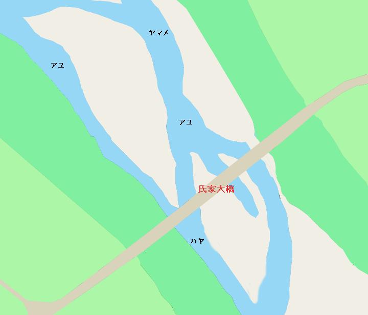 鬼怒川氏家大橋付近のポイント(栃木県宇都宮市・さくら市)