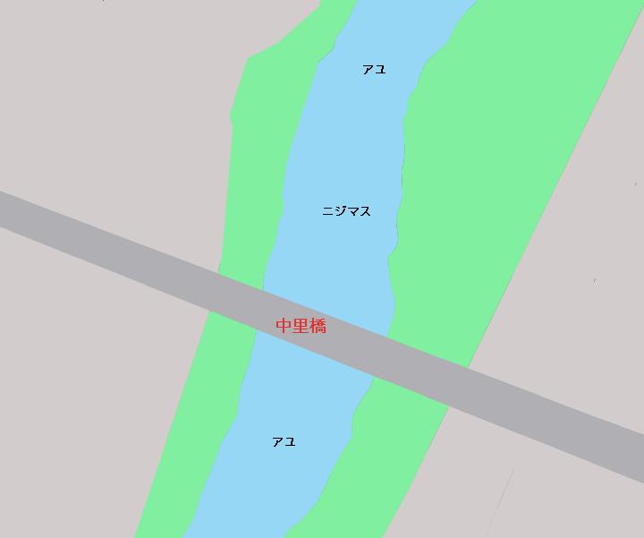 桐生川中里橋周辺のポイント
